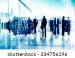 global corporate business team... | Shutterstock . vector #334756196