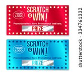 scratch card game and win. with ... | Shutterstock .eps vector #334761332