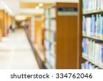 books on bookshelf in library ... | Shutterstock . vector #334762046