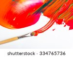 colorful abstract paint and... | Shutterstock . vector #334765736