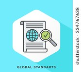 global standards icon with dark ... | Shutterstock .eps vector #334767638