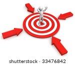 men in the center of the target.... | Shutterstock . vector #33476842