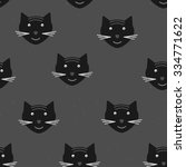 seamless pattern with cats'... | Shutterstock .eps vector #334771622