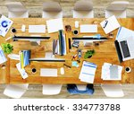 messy office meeting table no... | Shutterstock . vector #334773788