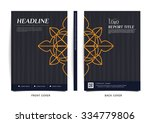 vector design for cover report  ... | Shutterstock .eps vector #334779806
