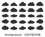 Clouds Silhouettes. Vector Set...