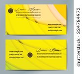 stylish business cards with... | Shutterstock .eps vector #334784972