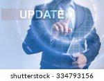 businessman pressing button on... | Shutterstock . vector #334793156