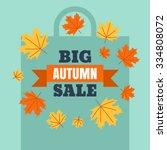 big autumn sale banner... | Shutterstock .eps vector #334808072