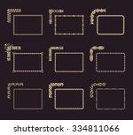 vector calligraphic frames set. ... | Shutterstock .eps vector #334811066