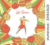 cute hand drawn doodle dancing...   Shutterstock .eps vector #334813628