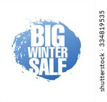 big winter sale poster | Shutterstock .eps vector #334819535