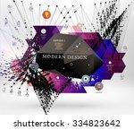 geometric polygonal elements.... | Shutterstock .eps vector #334823642