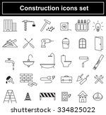 construction icons set  vector  | Shutterstock .eps vector #334825022
