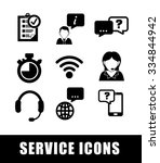 customer service and call... | Shutterstock .eps vector #334844942