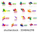 geometric shapes company logo... | Shutterstock .eps vector #334846298