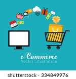 shopping and ecommerce graphic... | Shutterstock .eps vector #334849976