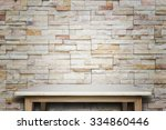 empty top of natural stone... | Shutterstock . vector #334860446