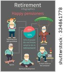 happy pensioners after... | Shutterstock .eps vector #334861778