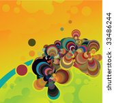 colorful abstract background | Shutterstock .eps vector #33486244