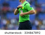 Soccer referee to point out a...