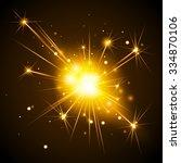glowing. bengal light | Shutterstock .eps vector #334870106