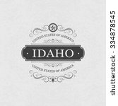 idaho usa state.vintage frame. | Shutterstock .eps vector #334878545
