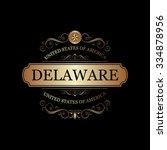 delaware usa state.vintage... | Shutterstock .eps vector #334878956