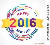 vector illustration of happy... | Shutterstock .eps vector #334881785