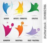 set of abstract sport logos. | Shutterstock .eps vector #334882586