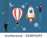 business competition concept.... | Shutterstock .eps vector #334893695