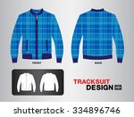 blue plaid tracksuit design... | Shutterstock .eps vector #334896746