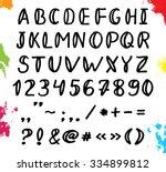 sketching scribble black font.... | Shutterstock .eps vector #334899812