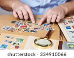 man watching a collection of... | Shutterstock . vector #334910066