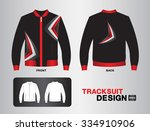black tracksuit design vector... | Shutterstock .eps vector #334910906