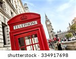 london telephone booth in front ...