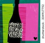 happy new year 2016 retro...   Shutterstock .eps vector #334917752