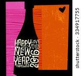 happy new year 2016 retro...   Shutterstock .eps vector #334917755