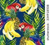 tropical background. seamless...   Shutterstock . vector #334918508