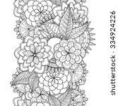 vector doodle flowers seamless... | Shutterstock .eps vector #334924226