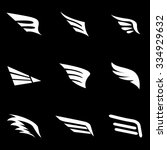 Vector White Wing Icon Set....