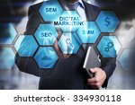 digital marketing concept man...   Shutterstock . vector #334930118