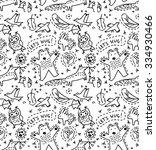 animals seamless pattern....   Shutterstock .eps vector #334930466