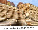 edging board in stacks | Shutterstock . vector #334935695