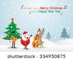 santa claus  snowman  reindeer  ...   Shutterstock .eps vector #334950875