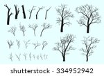 set of branches. trees are... | Shutterstock .eps vector #334952942