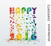 abstract colorful  happy new... | Shutterstock .eps vector #334955972