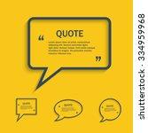 quote line speech bubble set ...   Shutterstock .eps vector #334959968