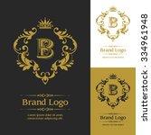 ornate vector logo template.... | Shutterstock .eps vector #334961948