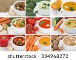 collection of soups meal soup... | Shutterstock . vector #334968272